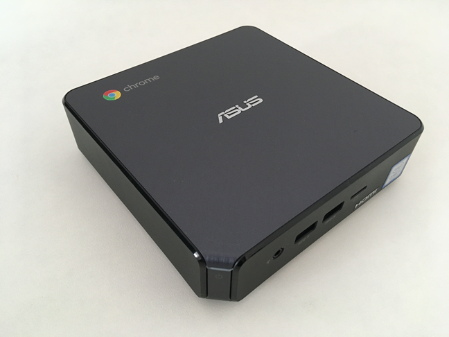 The top side of the ASUS Chromebox 3