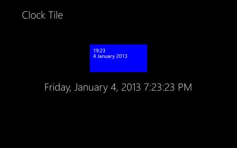 Windows 8 - Clock Live Tile - Simply Advanced Time Tile