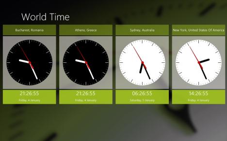 Windows 8 - Clock Live Tile - World Time