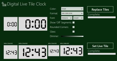 Windows 8 - Clock Live Tile - Digital Live Tile Clock