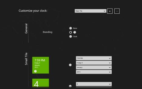 Windows 8 - Clock Live Tile - Asparion Clock