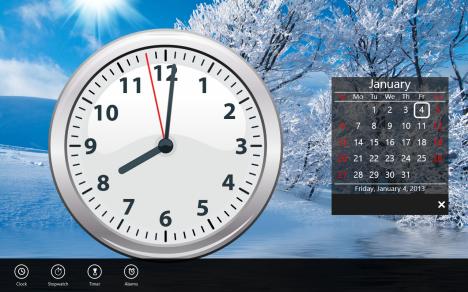 Windows 8 - Clock Live Tile - Clock
