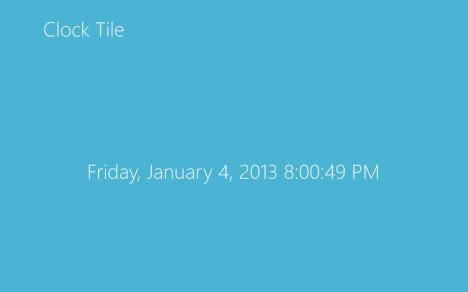 Windows 8 - Clock Live Tile - Clock Tile