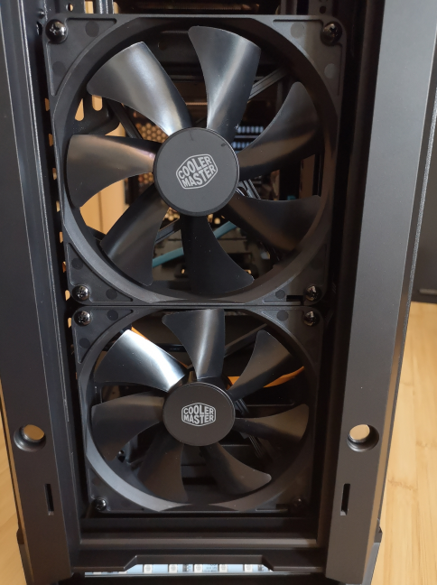 The front panel fans on the Cooler Master MasterCase MC600P