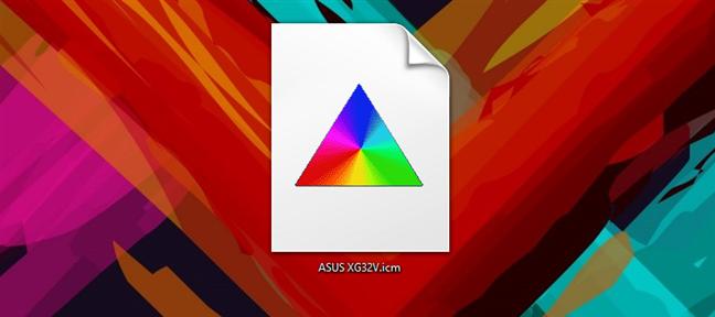 An ICM (color profile) file in Windows 10