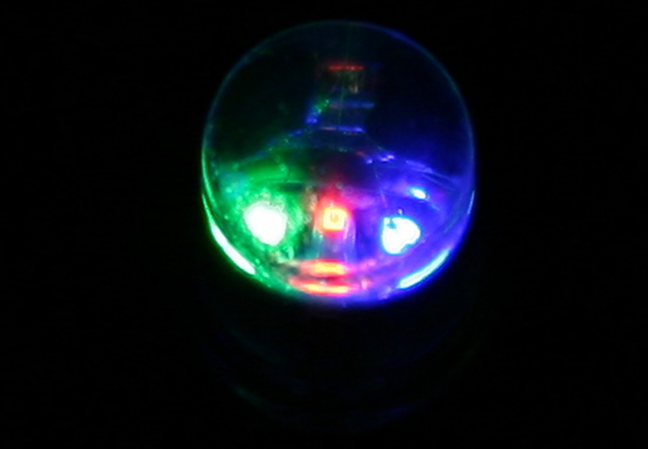 A closeup of a RGB LED taken from Wikipedia