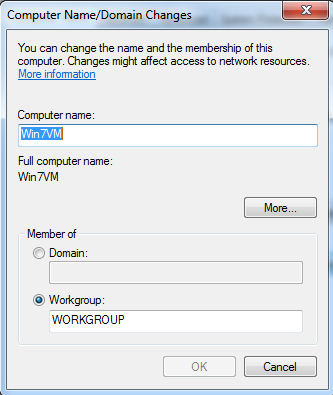 Computer Name, Windows