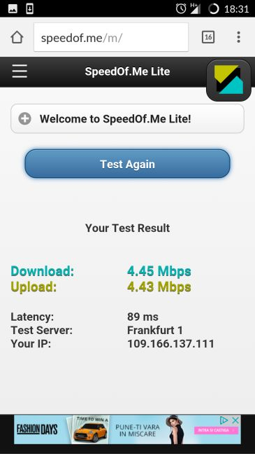 Android, internet, connection, test, speed, measure, download, upload