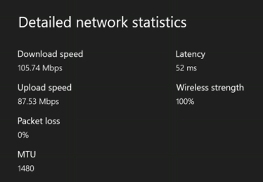 The Wi-Fi speed you get on an Xbox One