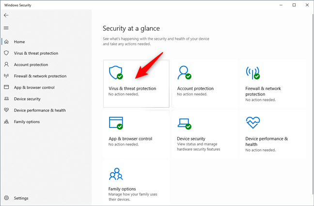Virus & threat protection in Windows Security