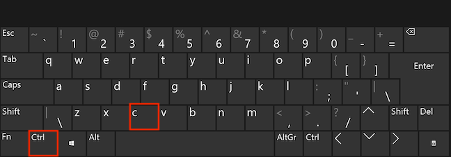 To copy, press Ctrl and C simultaneously on your keyboard