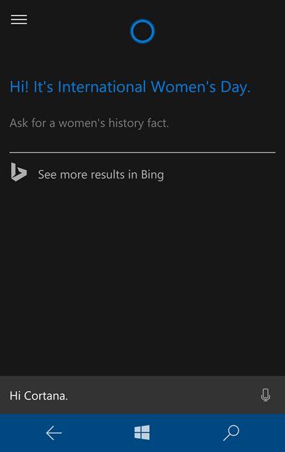 Microsoft, Cortana, international, English, version