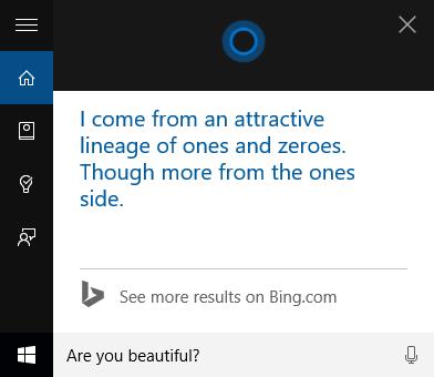 Cortana, fun, questions, commands, Windows 10