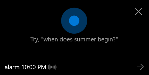 Set an alarm with one voice command