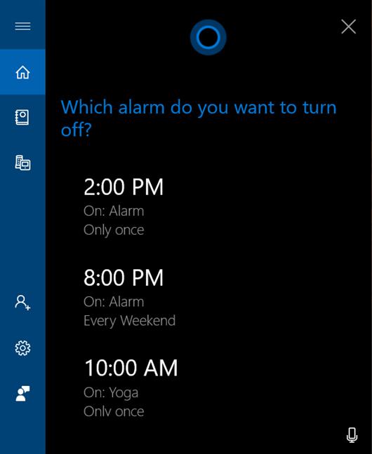 Turn off an active alarm