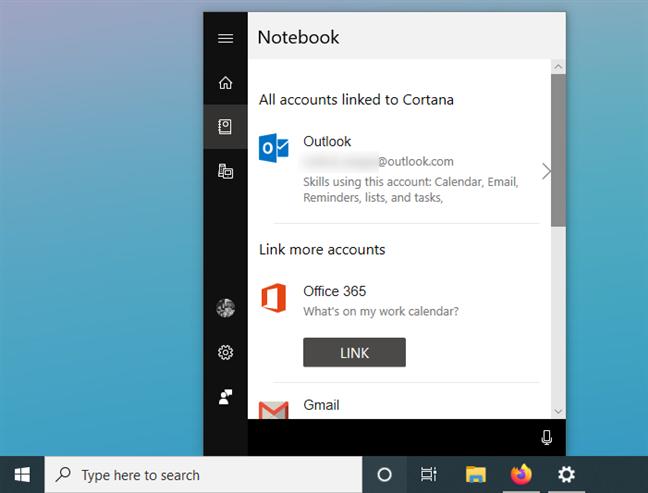 Restablecer los servicios vinculados a Cortana