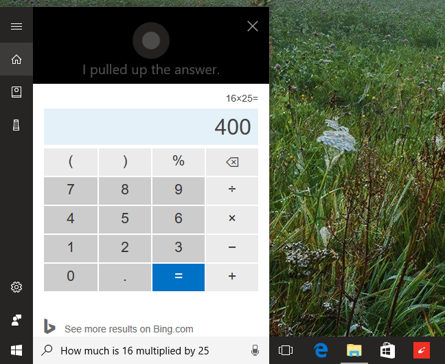 Cortana, questions, commands, Windows 10