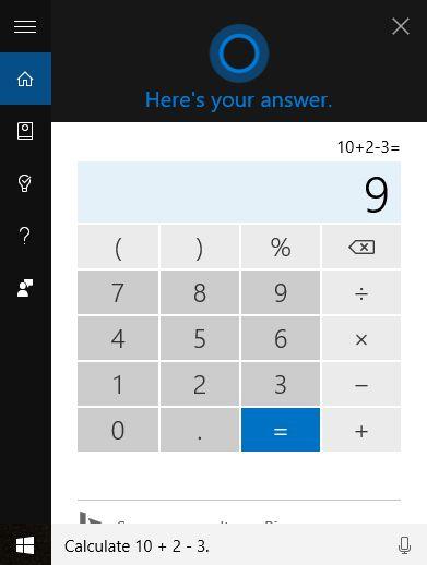 Cortana, calculator, math, problems, equations, solve, Windows 10, Windows 10 Mobile