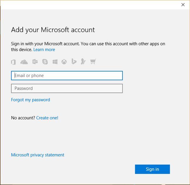 Windows 10, Cortana, local, user, account, how to