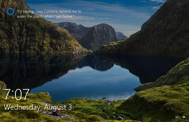 Windows 10, Cortana, Lock Screen, enable, use