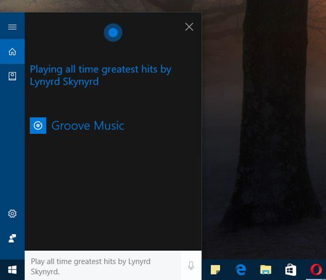Cortana, Windows 10, Groove Music, play, songs, music