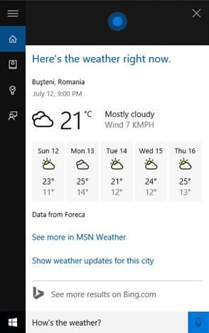 Cortana, Windows 10, interface, use, interact, can, do