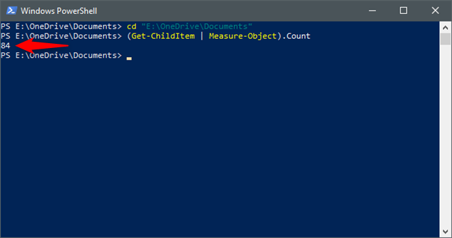 Using PowerShell to count the files and folders in a folder