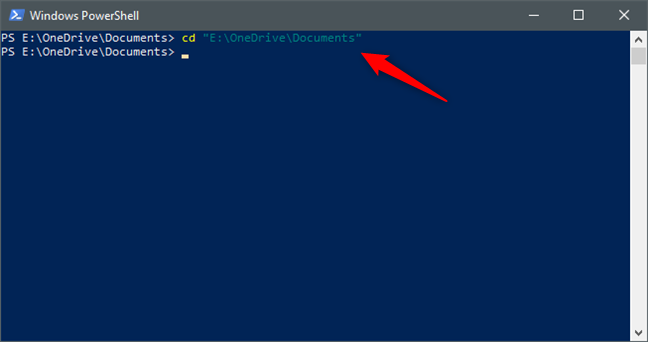 Using Powershell to get to a folder