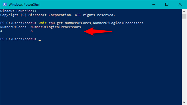 The WMIC command in PowerShell