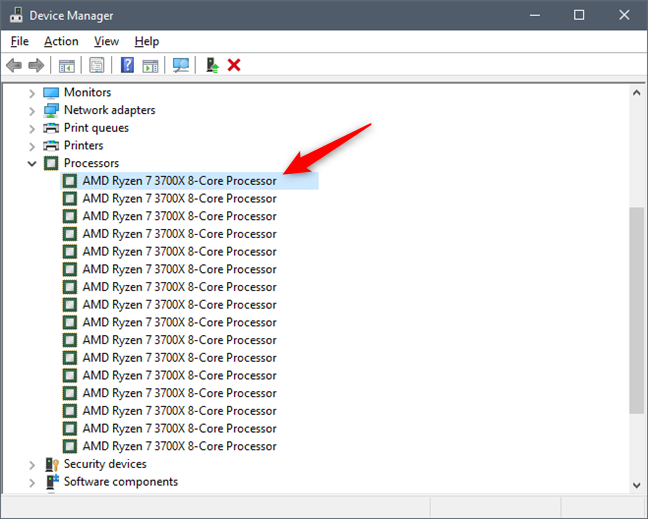 See what processor is inside your PC, using Device Manager