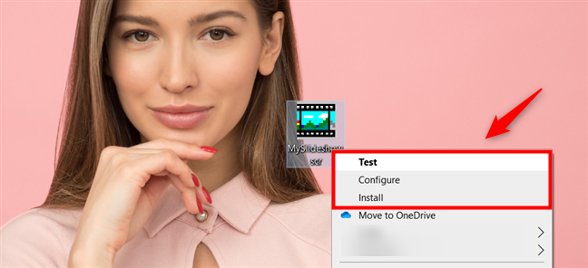 The SCR file: Test, Configure or Install your own screensaver