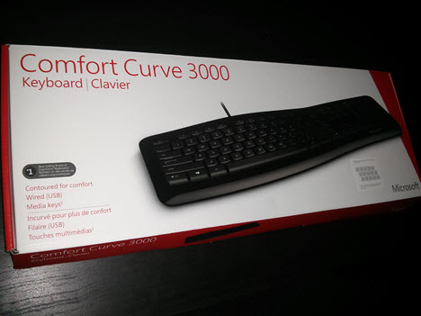 Microsoft, Comfort, Curve, 3000, keyboard, review