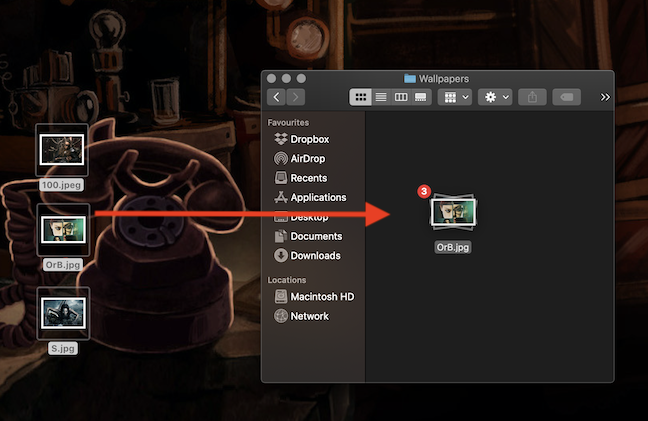 Hold down the mouse button to drag and drop your selection to a new location