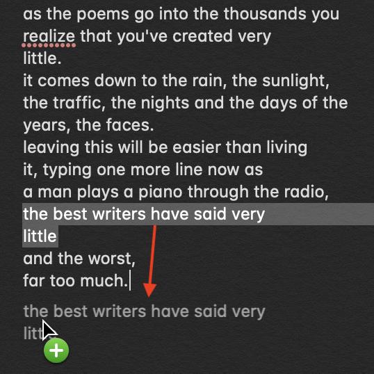 Use la tecla Opción para copiar texto dentro del mismo documento