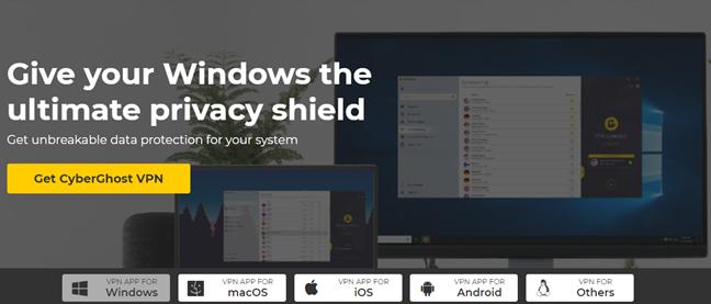 CyberGhost VPN apps