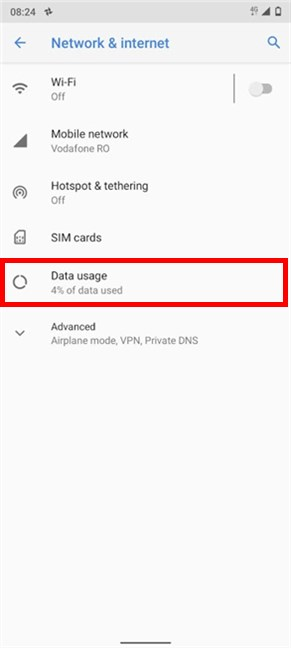 Access Data usage