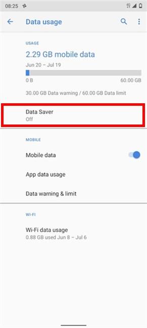 Access Data Saver
