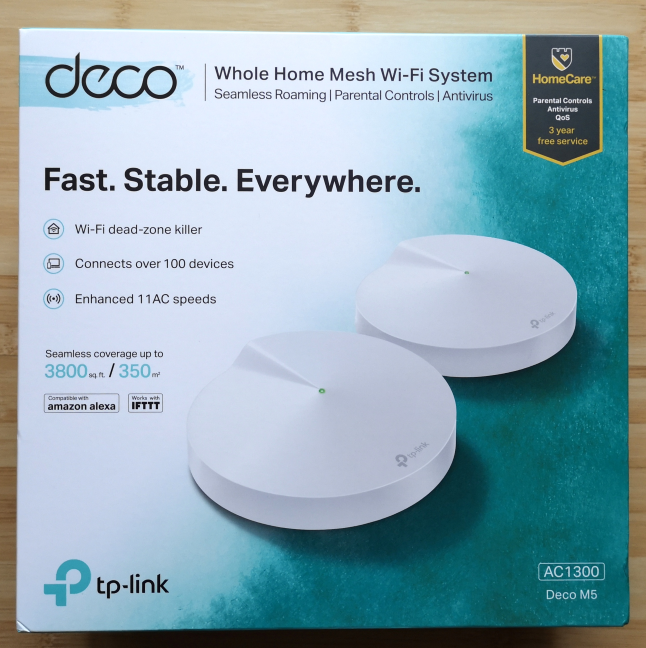 TP-Link Deco M5: two-stations kit