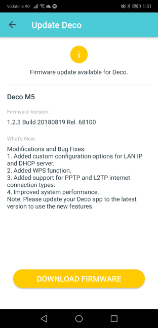 Firmware updates on the TP-Link Deco M5