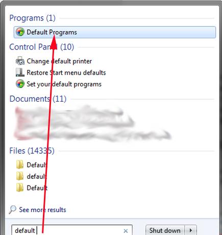 Windows 7, programs, defaults, file extensions, protocols, Default Programs