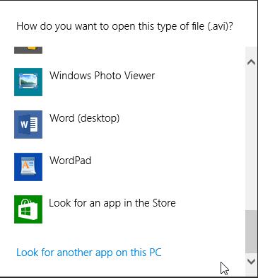 Default Programs, Windows 7, Windows 8.1, File Associations
