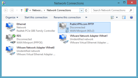 Windows 8, Windows 8.1, VPN, Network, Connection, delete, remove, PPPOE