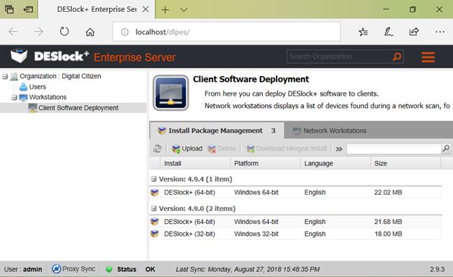 ESET EndPoint Encryption, DESlock