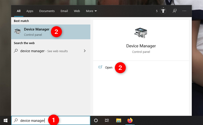Searching for the Device Manager