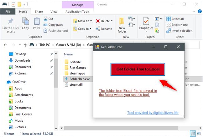 Get Folder Tree to Excel