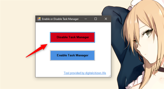 Disable Task Manager on Windows 10 with TaskMgrEd