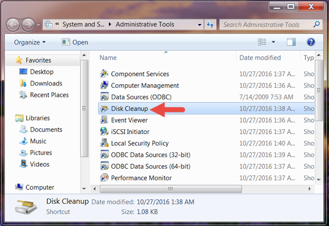 Disk Cleanup, Windows