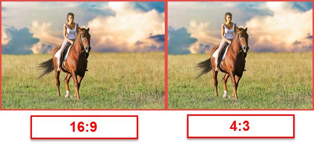 The same picture in 16:9 vs 4:3 aspect ratio