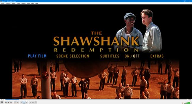 A 4:3 aspect ratio movie on a 16:9 display