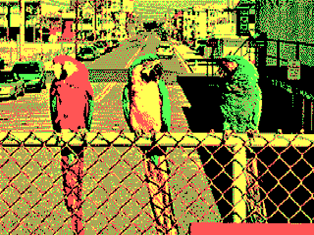 What an image rendered on a CGA display looked like